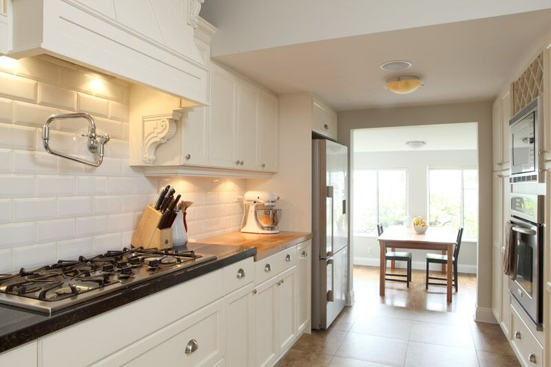 vancouver kitchen design. Spacious Galley Kitchen Design in Vancouver  Custom Renovations